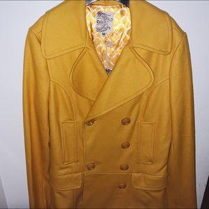 Yellow pea coat